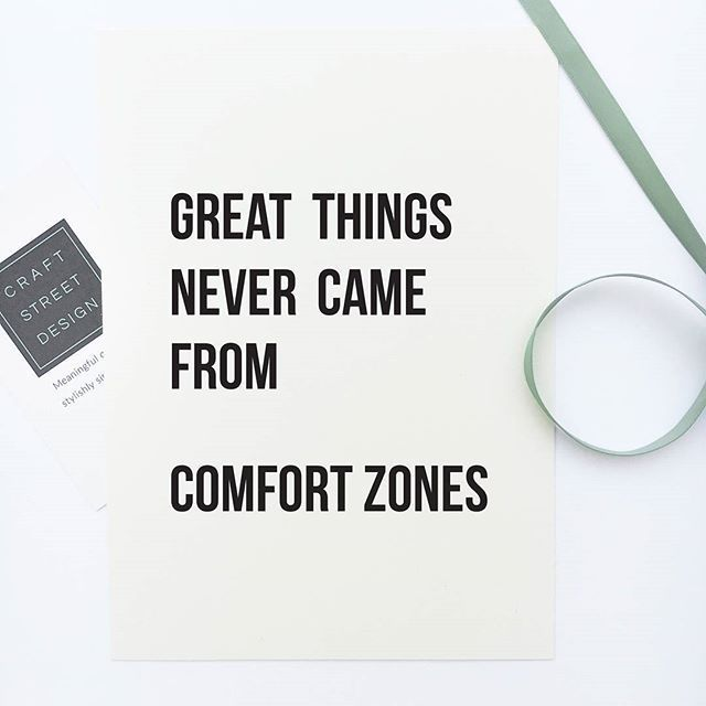 Inspirational quote print u0027Great things never came from comfort