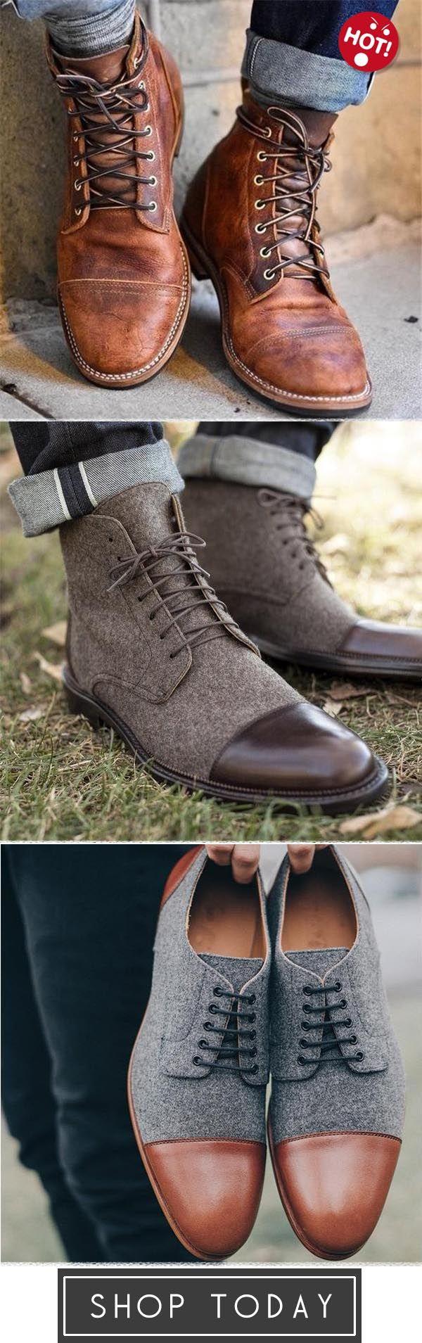 Ankle 's Boots Business casual Men Vintage Leather VqSGpUzM