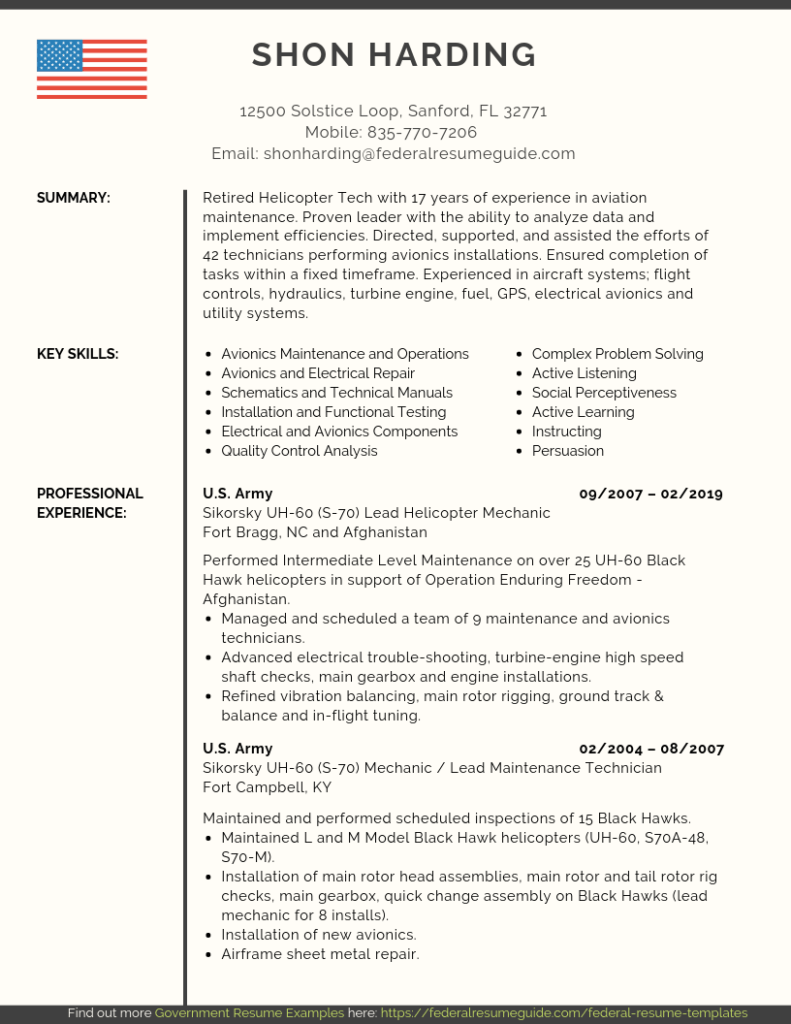 Federal Resume Template in 2020 Federal resume, Resume