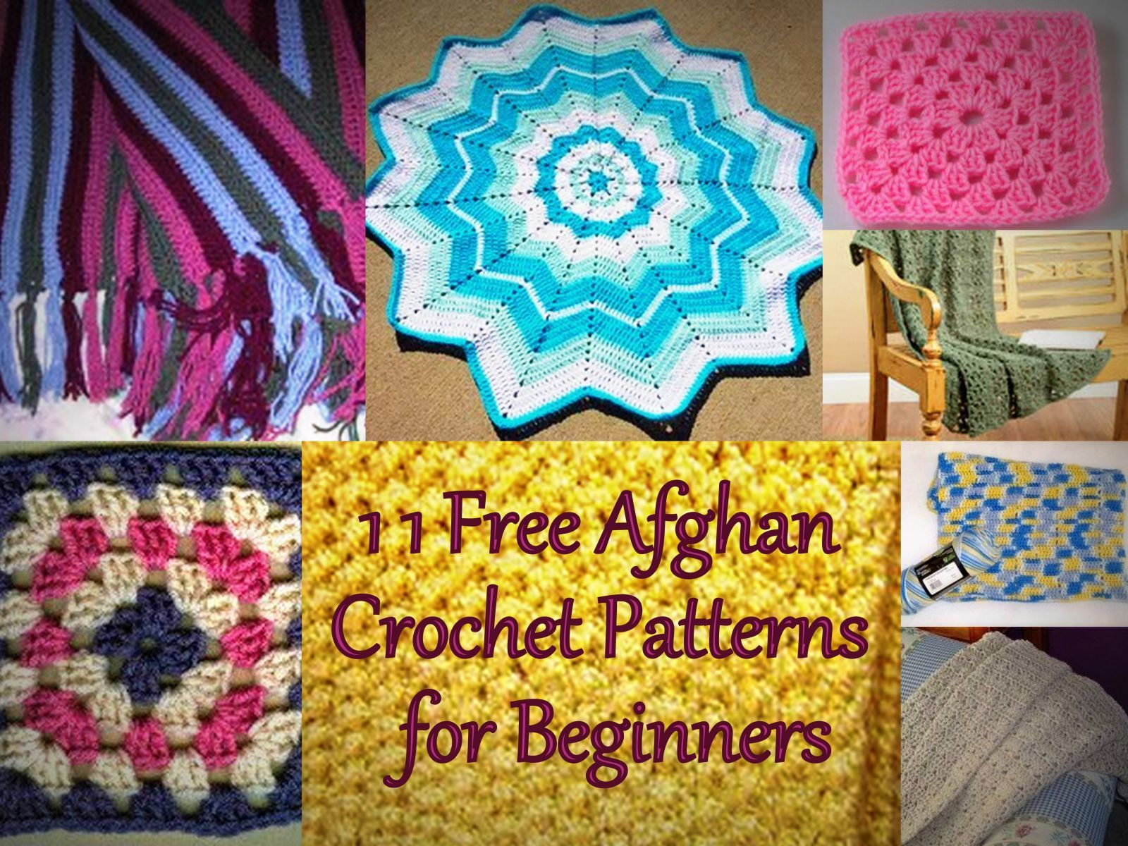 25 Free Crochet Afghan Patterns for Beginners | Ganchillo