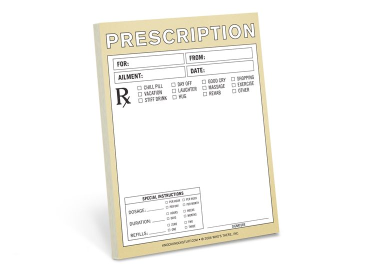 Fake Doctors Prescription Pad  Prescription Nifty Note  Knock