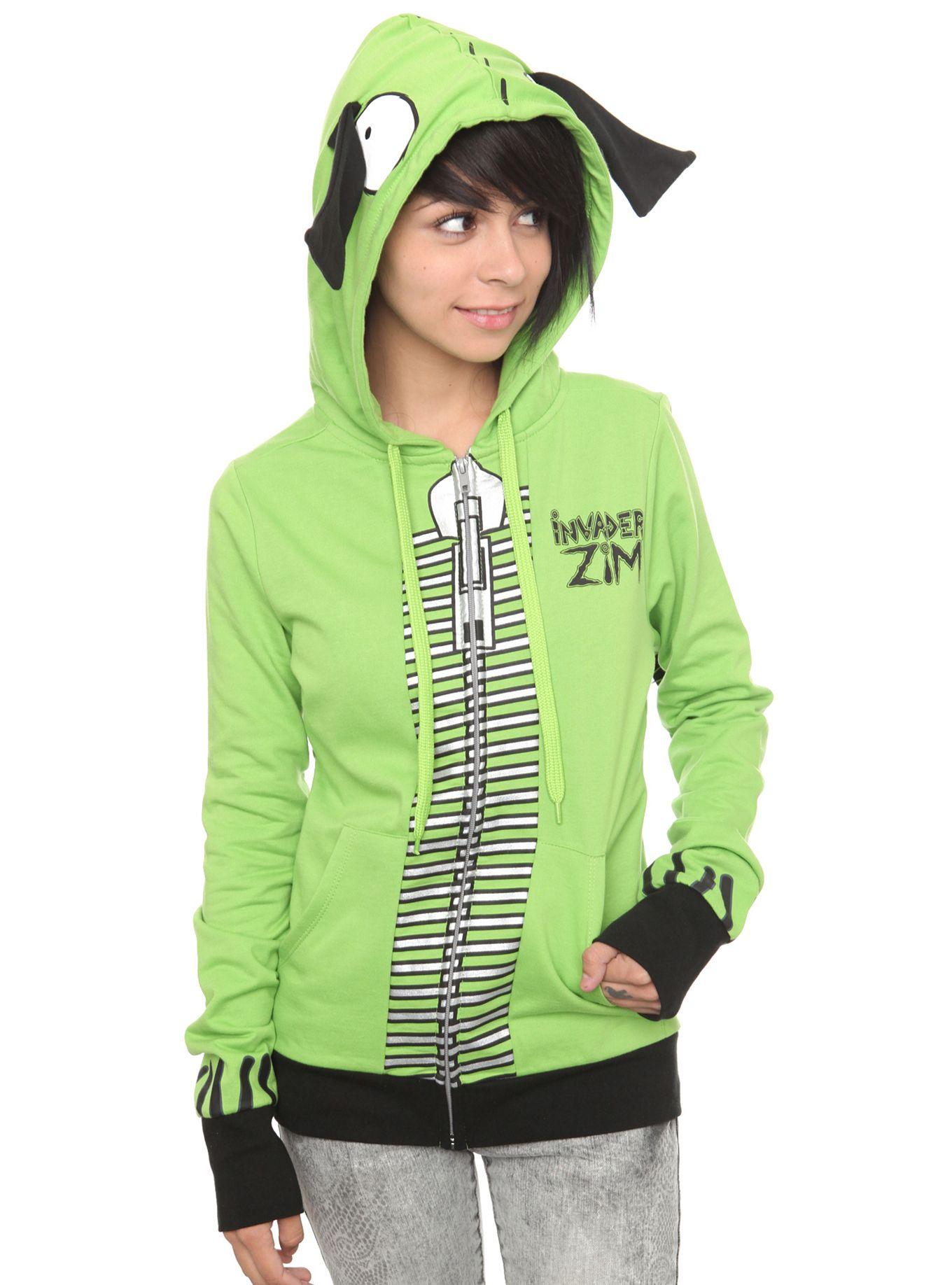 Invader zim i am gir girls hoodie nerd outfits hoodie