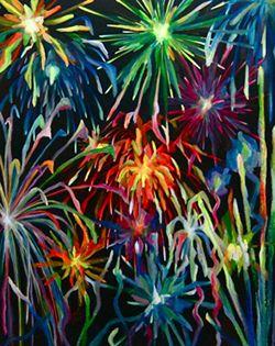 Fuegos Artificiales Fluorescentes Vicky Casellas Pinturas Y