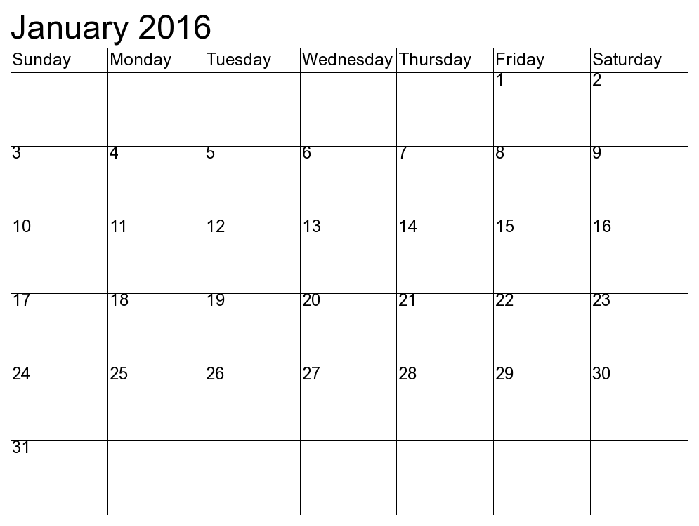january calendar 2016 - Google Search | chen | Pinterest | January ...