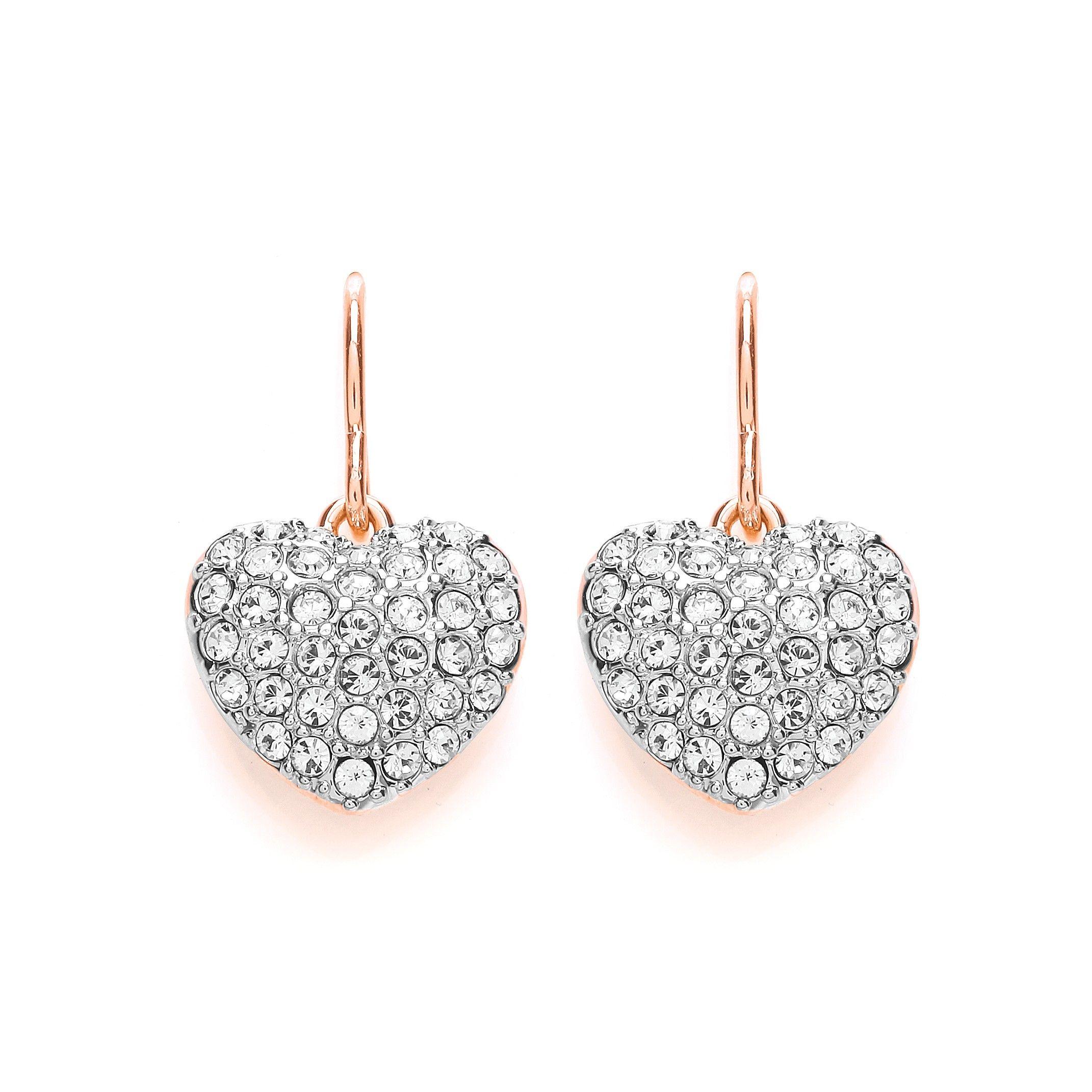 The Buckley London Miniature Heart Drop Earrings