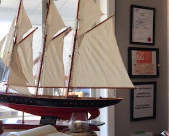 Big ship model. Interior decor, Ship & Shore Marine, 180 Crome Point Rd, Bowser, British Columbia