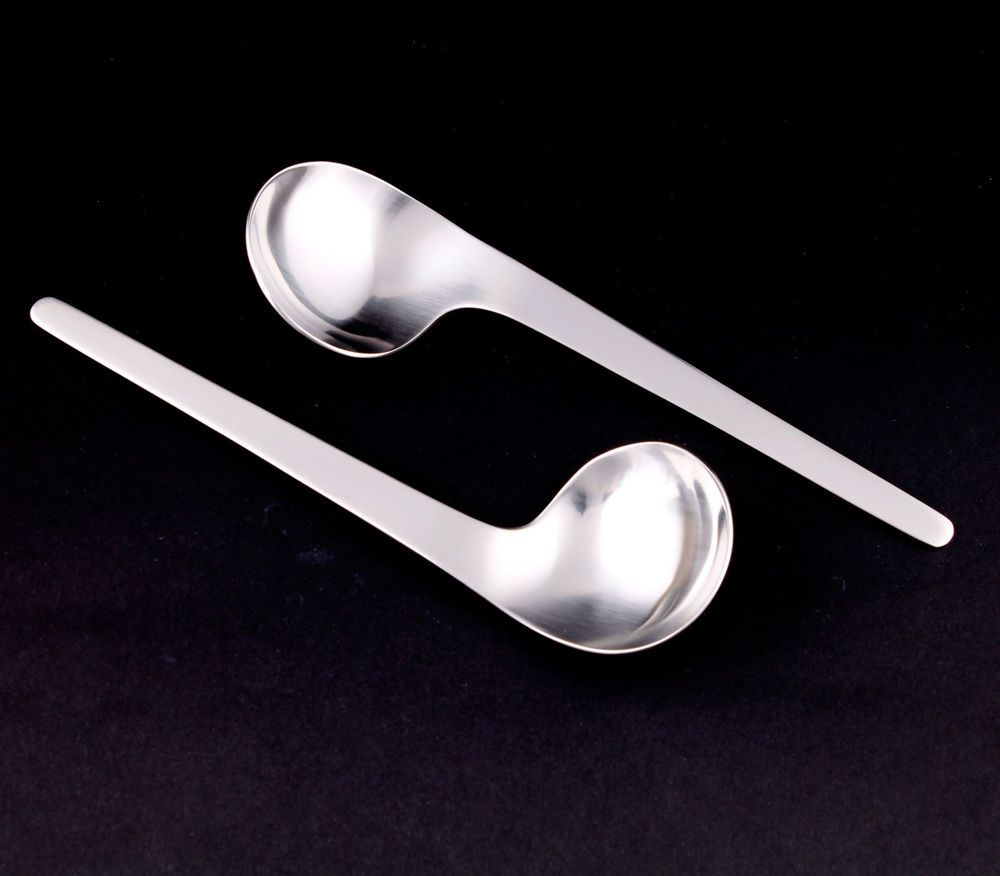 Georg Jensen Arne Jacobsen Breakfast Bouillon Spoons Gift Box 2 Pcs Right Georgjensen