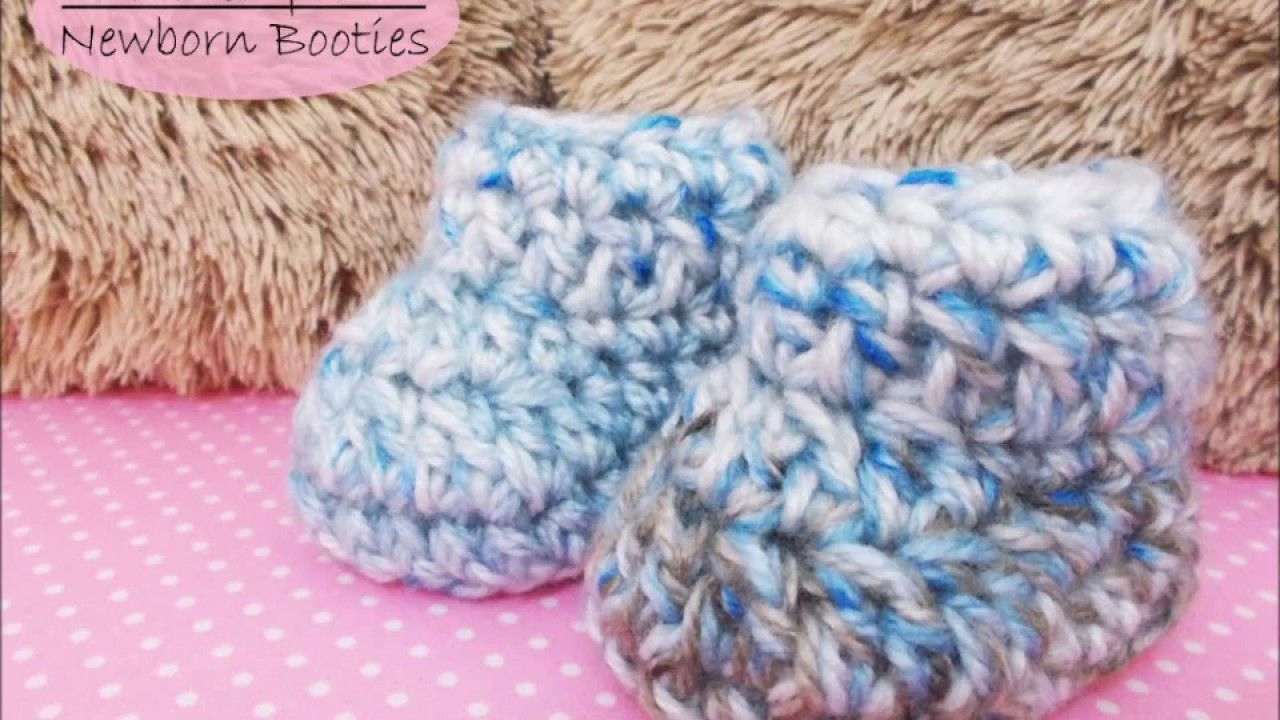 How to crochet Newborn Booties || Quick and easy tutorial - YouTube ...
