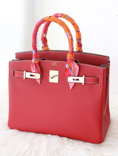 a103fc1db692 Red Hermes Birkin bag