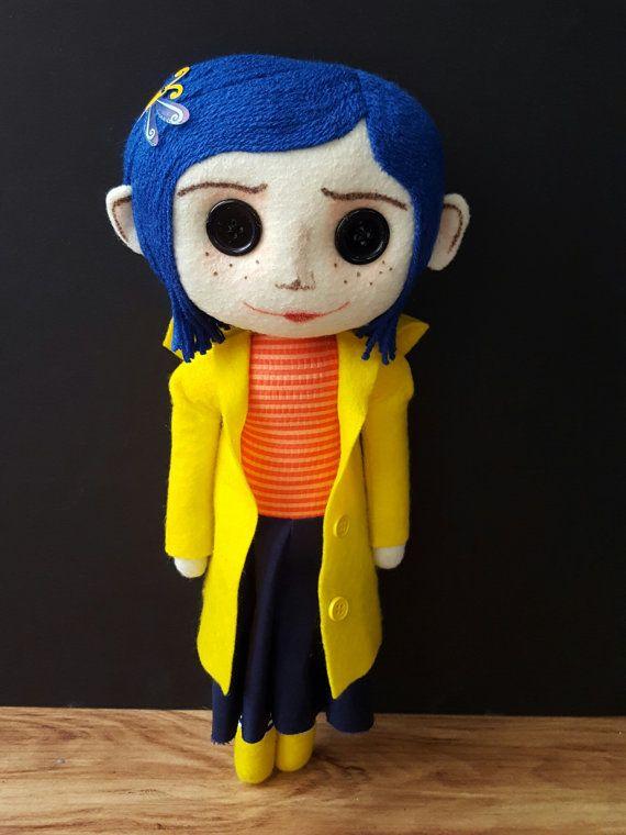 Handmade Coraline Inspired Art Doll Coraline Doll Coraline Costume Coraline
