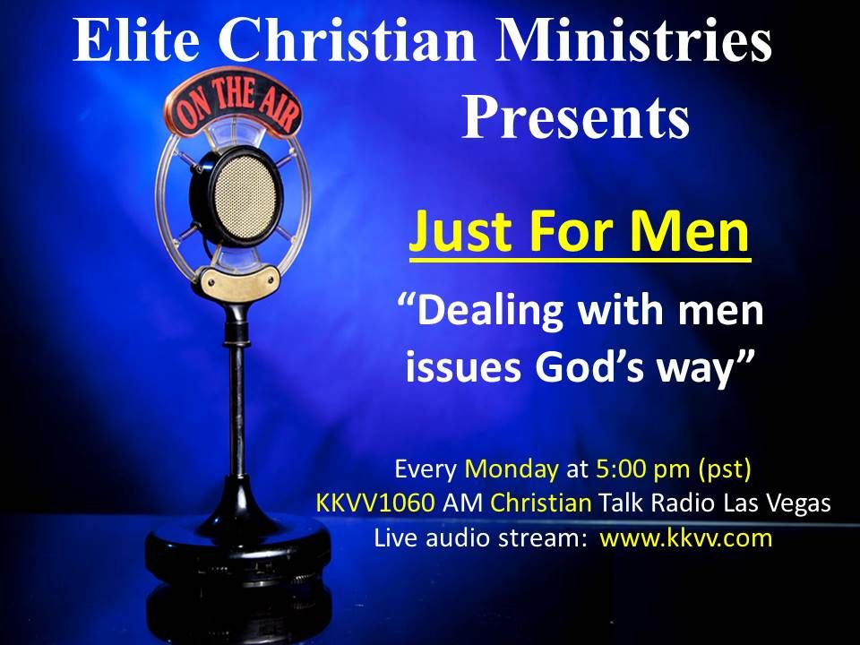 Just for Men is a radio ministry ordained by God to spread His Word and return the man to his rightful place.