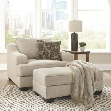 Best Marciana Bisque Chair And A Half With Ottoman In 2020 400 x 300
