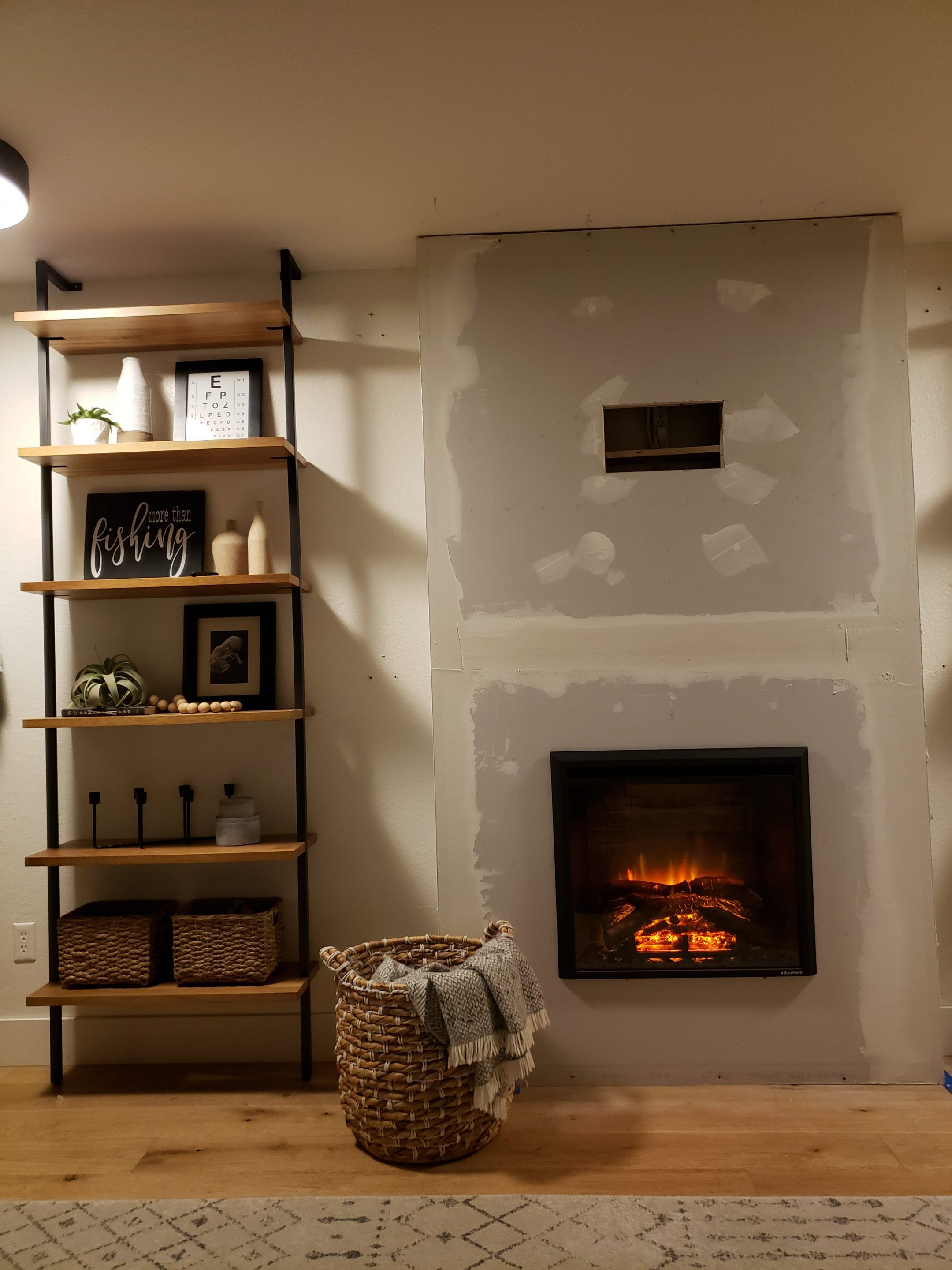 DIY Electric Fireplace HowTo Tutorial Built in electric