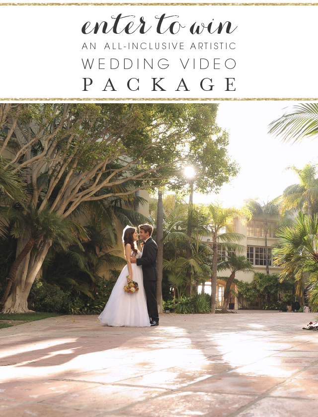Enter To Win An All Inclusive Artistic Wedding Videography Package Wedding Sweepstakes Win A Wedding Wedding
