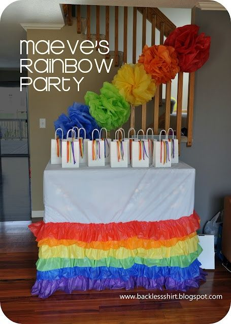 Rainbow Birthday Party clothing