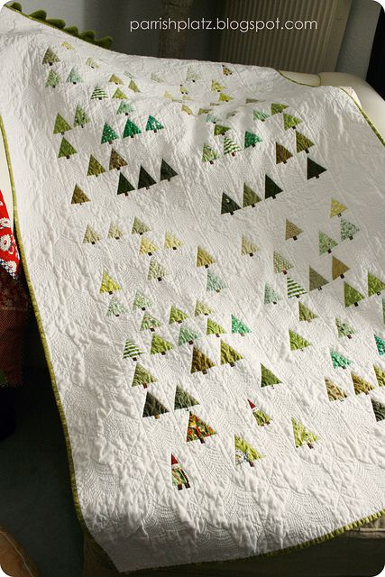 Gnome In Garden: Little Forest Quilt (with A Few Gnomes)