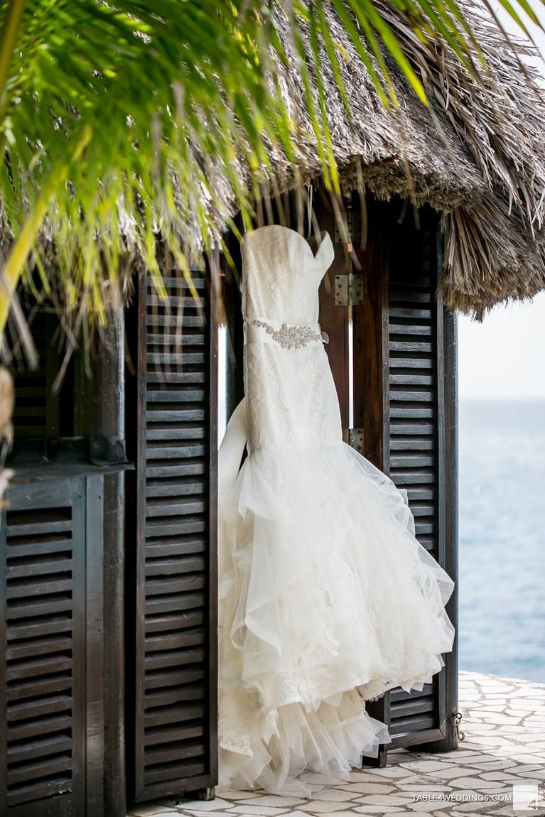 b28e68aae325 Our wedding Rockhouse Hotel in Negril Jamaica | Vera Wang wedding dress  Lillian | Destination wedding, peach wedding Shannon Skloss ...