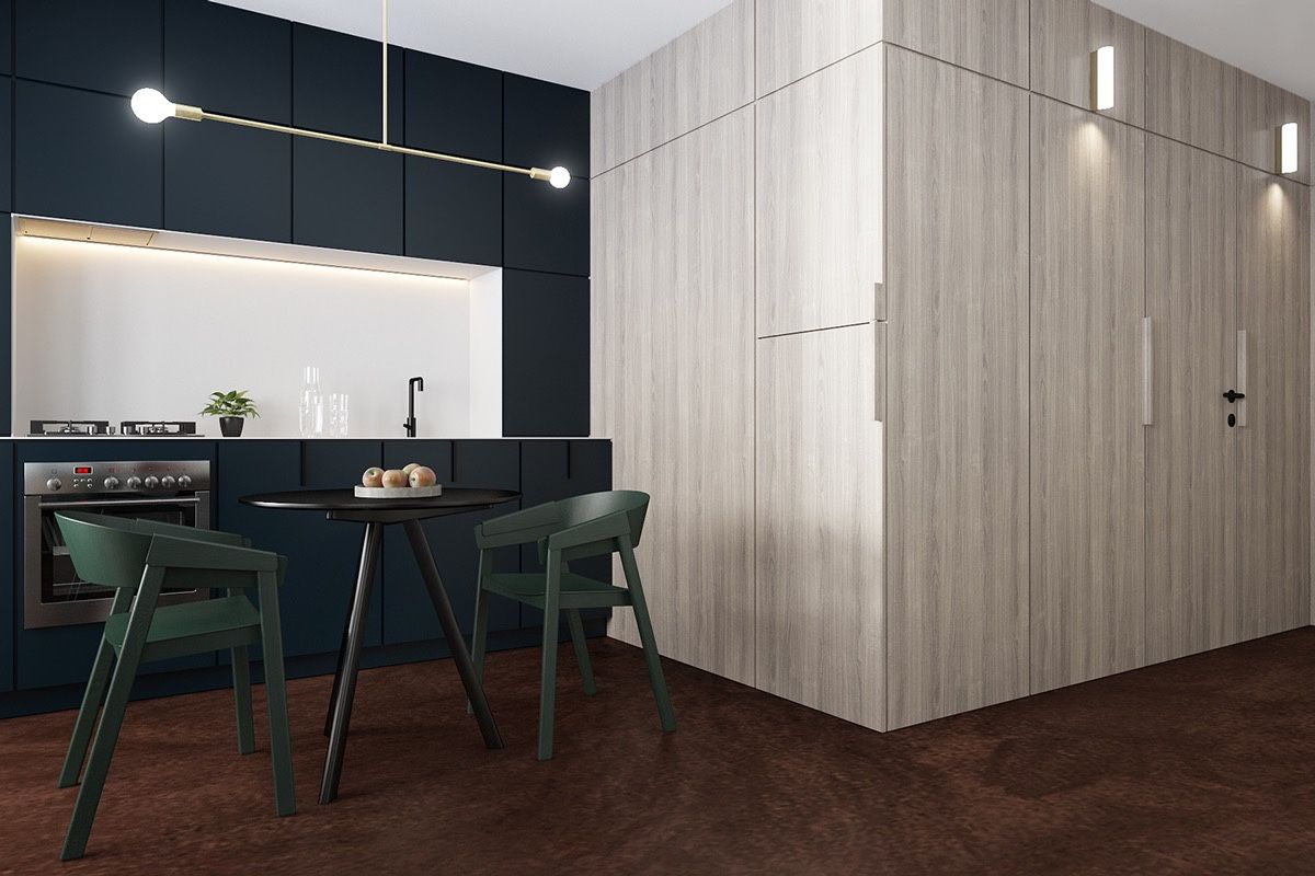Lovely Small Apartment Design Under 600 Square Feet