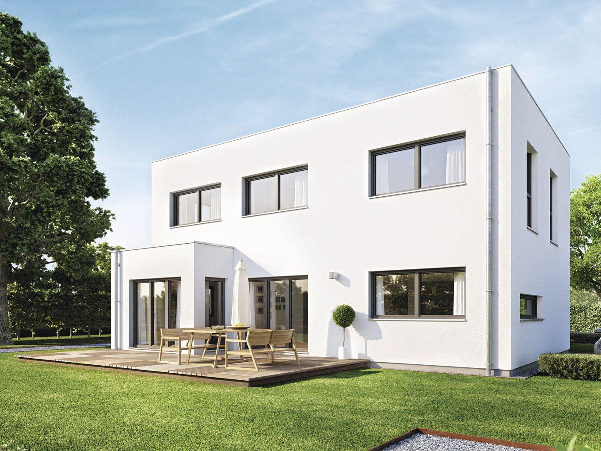 Haus sunshine 110 • einfamilienhaus von weberhaus • modernes fertighaus im bauhaus stil mit gut