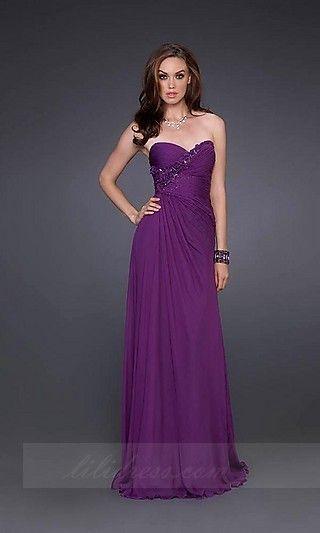 A-Line Long La Femme DWTS-15648,Purple Sweetheart Prom Dresses ...