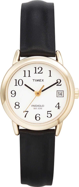 77379b473637 Timex Women s Easy Reader T2H341 Black Leather Quartz Dress Watch