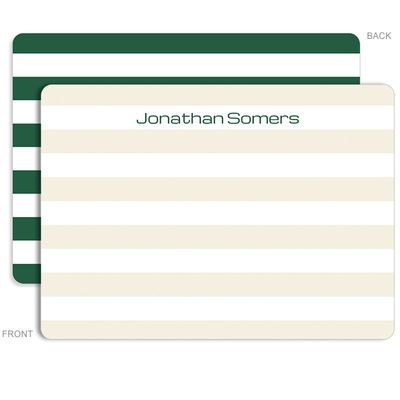 Personalized Evergreen Rugby Stationery