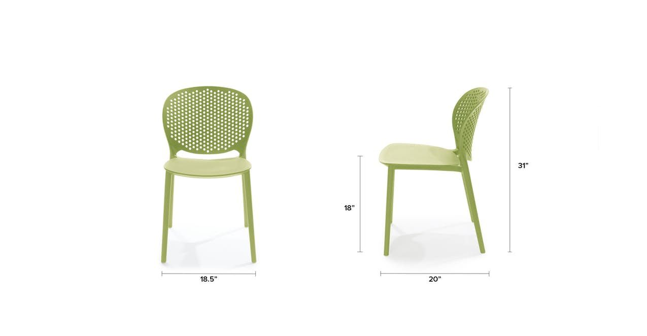Dot white dining chair blue dining chair yellow dining