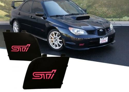 Oem Sti Black Fog Light Covers 2006 Subaru Wrx Wagon