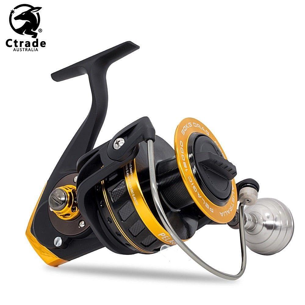 Ctrade Australia Pelagic18000 Spinning Reel 30kg Drag