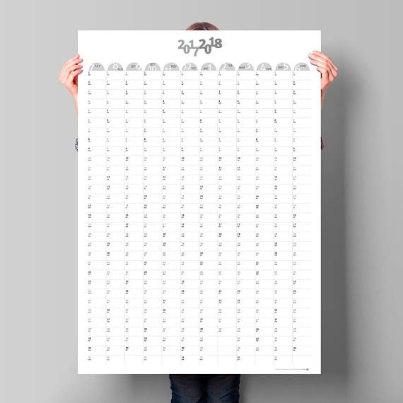 Calendar Large Wall Planner Business Planner Mid Year