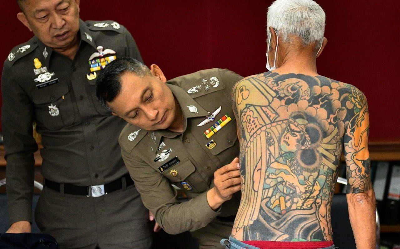 Missing Japanese mafia boss arrested after tattoos go viral
