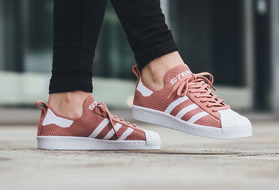 5682809f336 del zapato Adidas Superstar 80 PK W  Raw Pink  (mujer) (1)