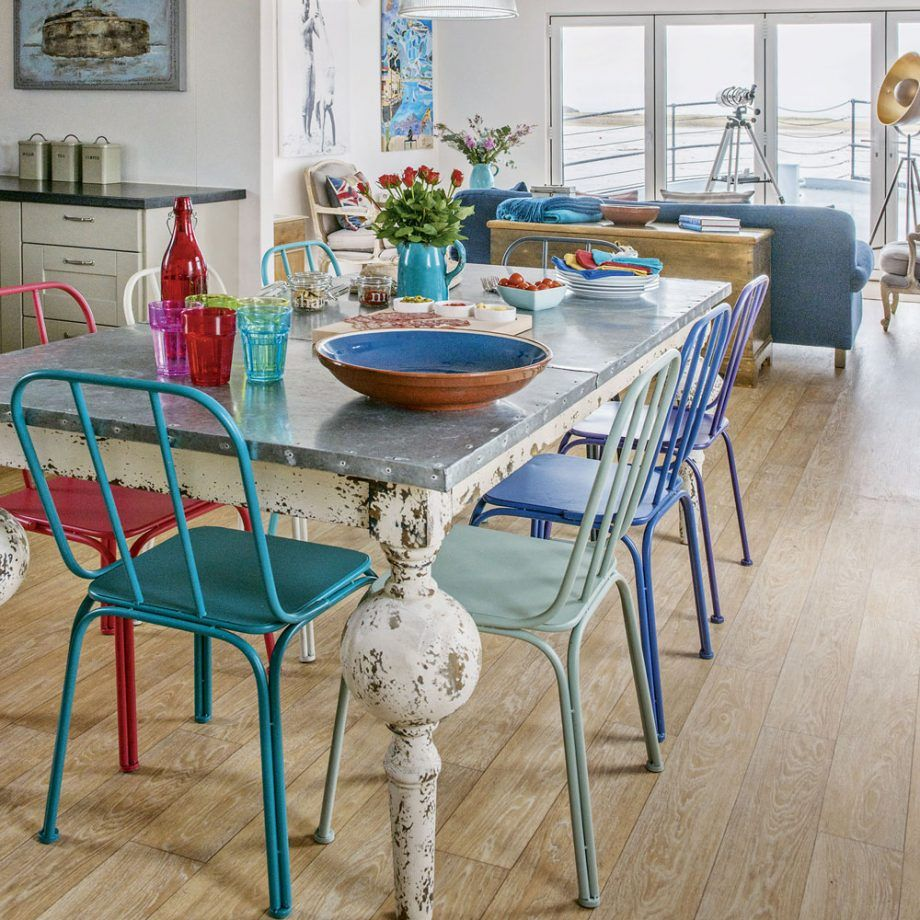 Feast Your Eyes Gorgeous Dining Room Decorating Ideas: This Newly Built Houseboat, Overlooking A Picturesque