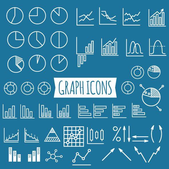 40+ Diagram and Graphs Icons | Design Bundles | Typog