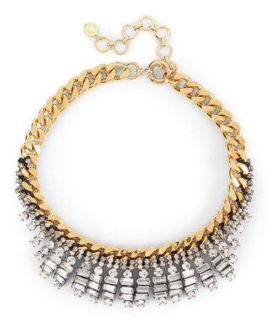 Look what I found on #zulily! Crystal & Gold Nathan Creation Necklace #zulilyfinds