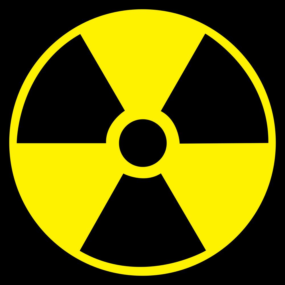 Radiation Symbol Sticker By Luminouslabels White 3 X3 Hazard Symbol Vinyl Decal Stickers Radiation