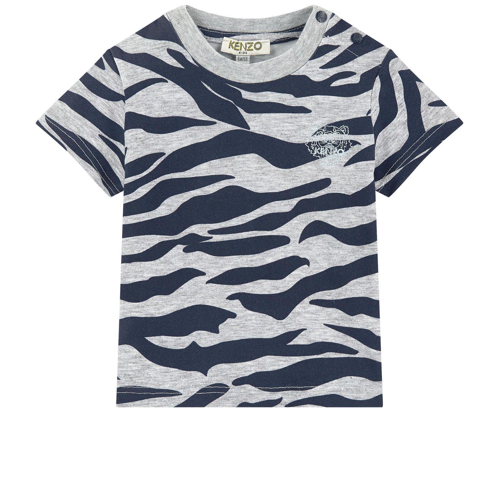 77d1c81a3 Kenzo Kids - T-shirt with a print - Tiger Stripes | Boys Clothes ...
