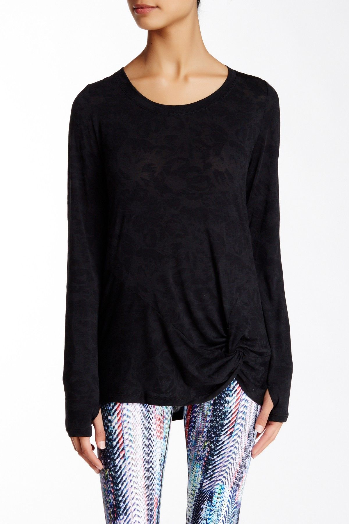 Burnout Twist Tee by Betsey Johnson on @nordstrom_rack