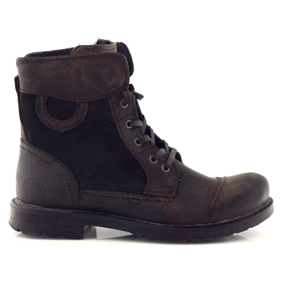 Trzewiki Trekkingowe Wysokie Dockers 270020 Brazowe Wielokolorowe Sneakers Wedge Sneaker Top Sneakers