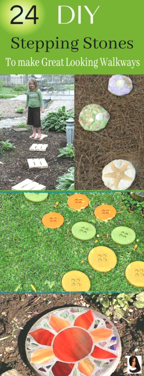 24 DIY Stepping Stones For A Fun & Exciting Walkways #steppingstonespathway