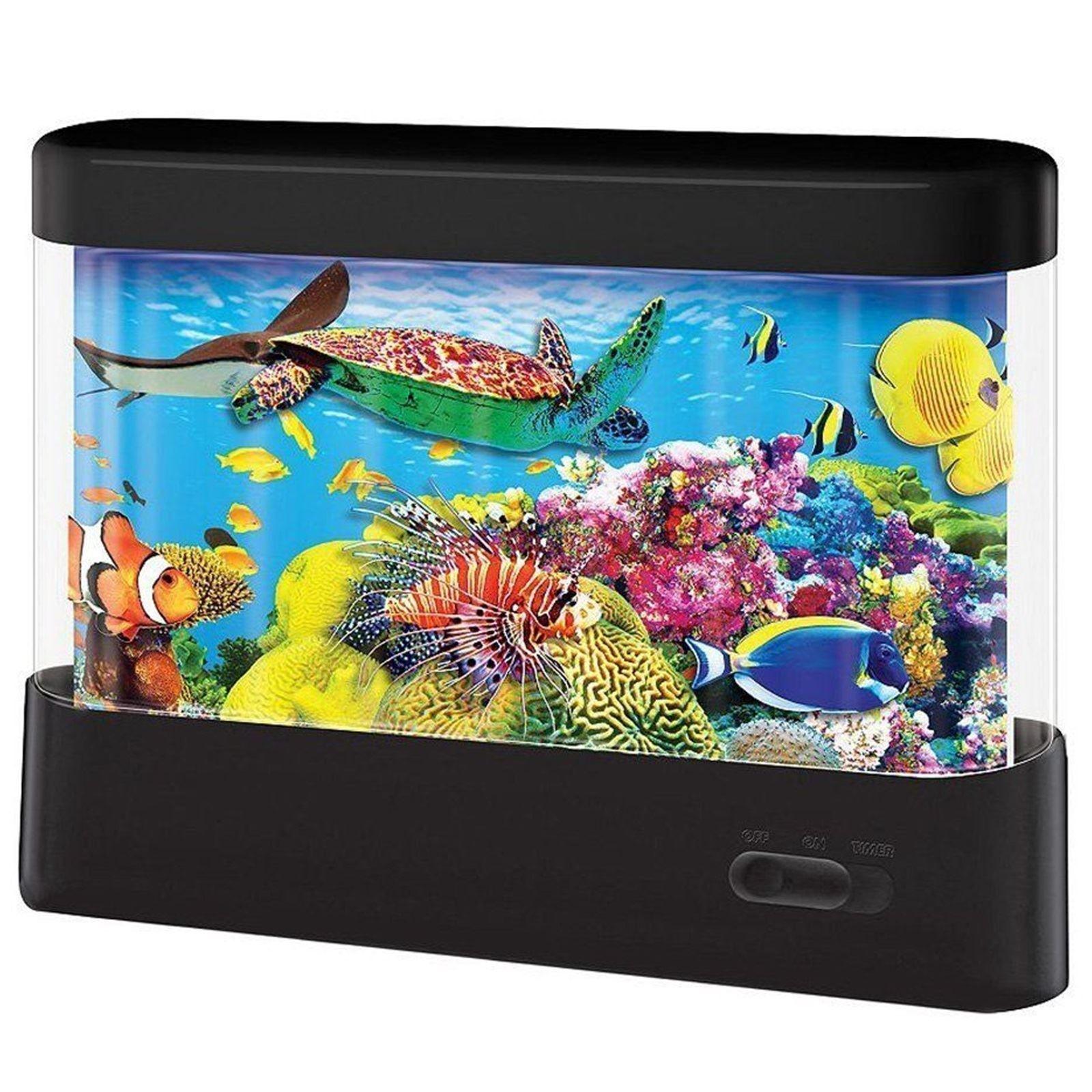 Led Animated Scene Aquarium Fish Tank Mood Night Light