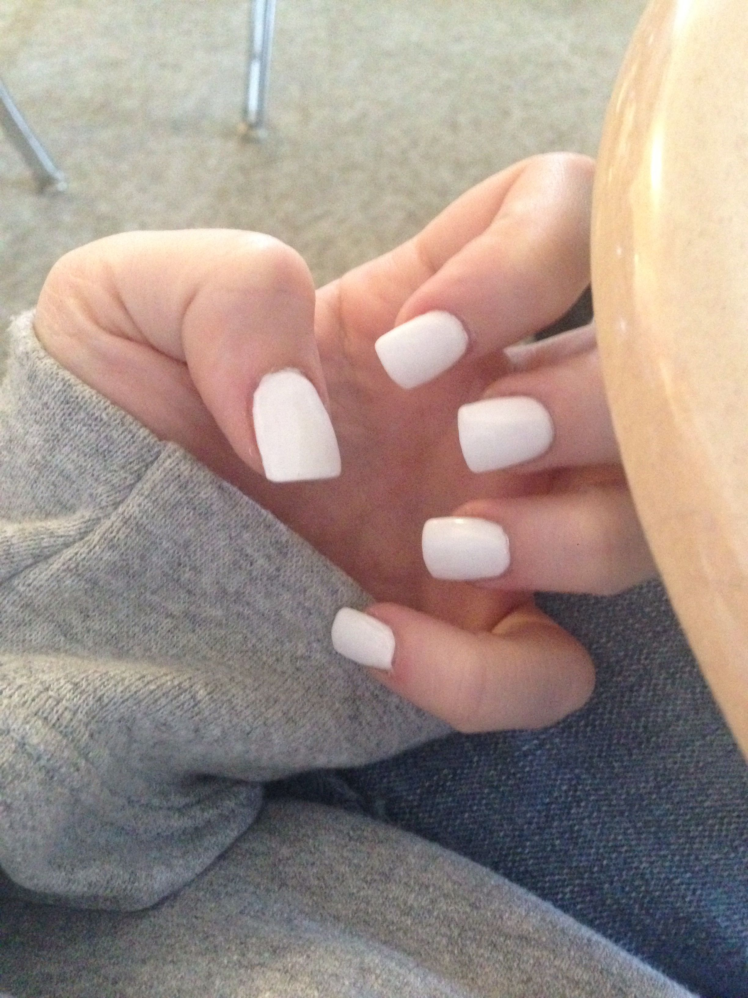 just a white acrylic nail | Nails | Pinterest | White acrylic nails ...