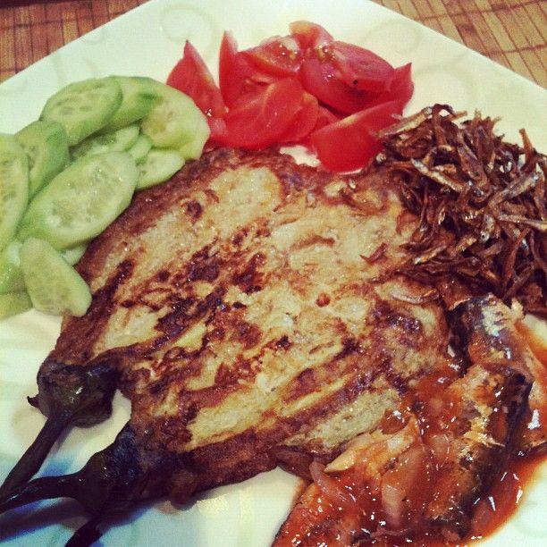 Pinoy Breakfast Tortang Talong Dilis Tomato Sardines