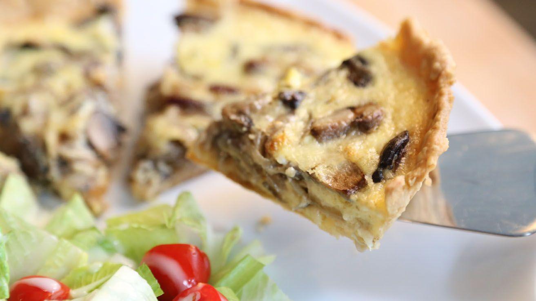 Mushroom And Onion Quiche | Stuffed mushrooms, Recipes ...