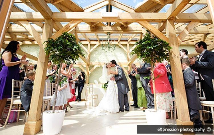 Outdoor Wedding Venue In Epping Essex: Civil Ceremony At Gaynes Park