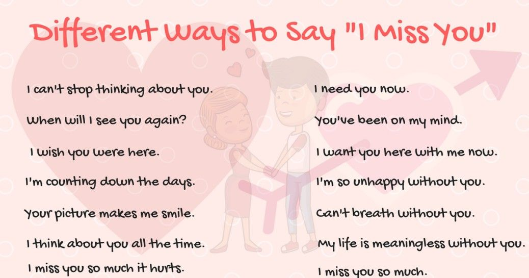 40 Wonderful Ways To Say I Miss You In English With Images