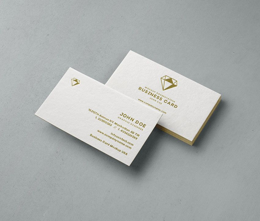 Elegant Business Card Mockup | Mockup | Pinterest | Free business ...