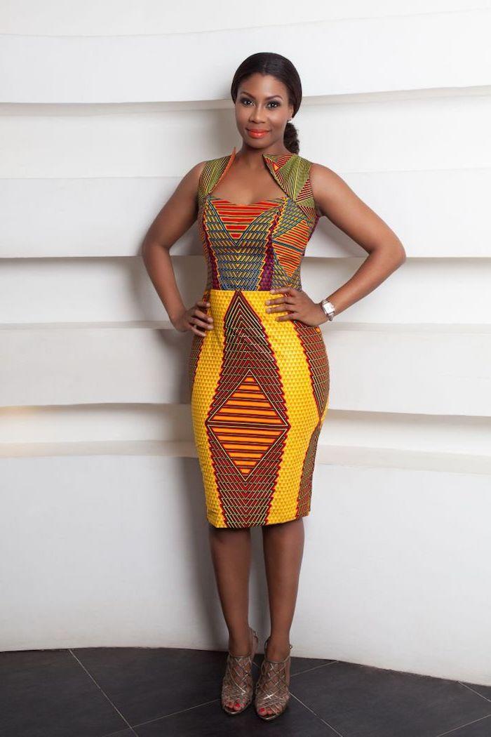 9fca9f7fb05 Femme robe en pagne africain chic robe africaine stylée femme tenue robe en  pagne stylée femme