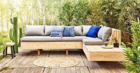Diy Budget Loungebank : Een zwevende loungebank maken uit steigerhout diy furniture and