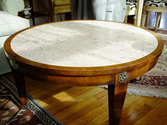 Mid-Century Round Marble Top Coffee Table Charak in Northwest Yonkers, Yonkers ~ Krrb Classifieds